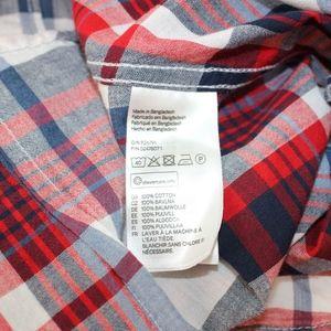 H&M Tops - H & M L.O.G.G. Short Sleeve Plaid Button Down Top